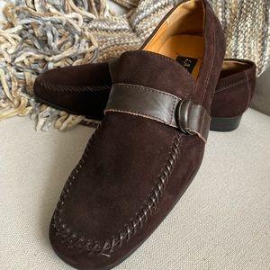 La Milano Italian Brown Suede Loafers 9.5 NWOT
